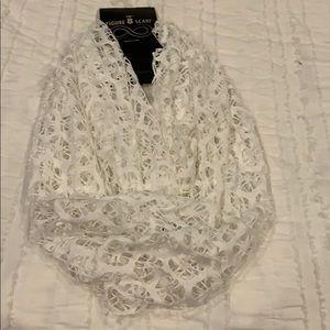 White dress scarf